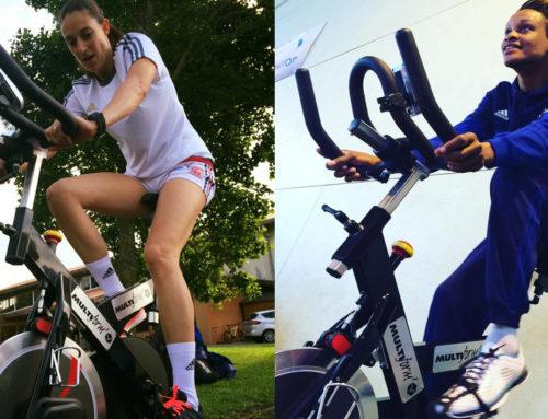 Le handball féminin en vélos